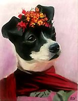 Canvas Frida Kahlo Dog Portrait - The PHAG Shop