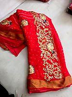 Pure chiffon tie-dye Bandhani Sarees