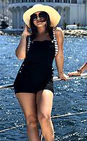Womens Black Overall Shorts - romperjill