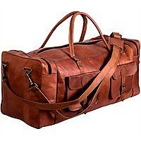 ORDER !! Weekend Vibes Leather Duffel @ Cuerobags